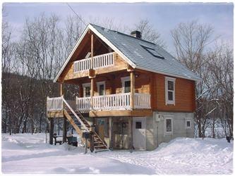 北海道のログハウス